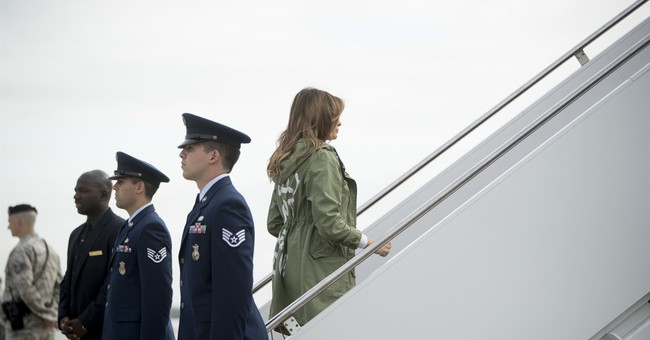 Jacketgate: Media Freaks Out About What Melania Wore on Plane Ride to Visit Immigrant Children in Texas