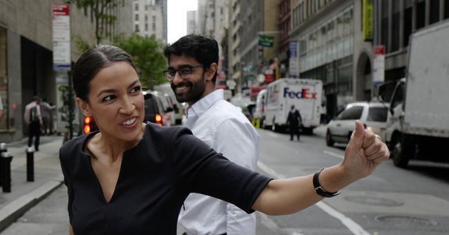 Ocasio-Cortez Joins Climate Change Sit-in Protest at Pelosi's Office