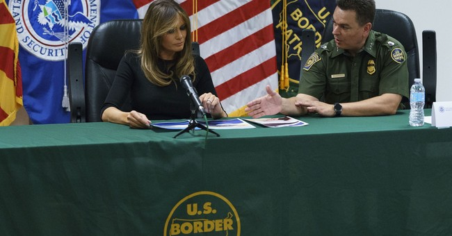 Melania Trump Holds Roundtable at Border Detention Facility in Arizona