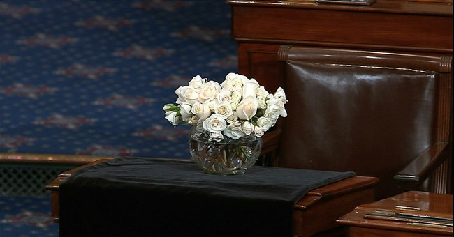 Washington pays tribute to McCain, Trump absent