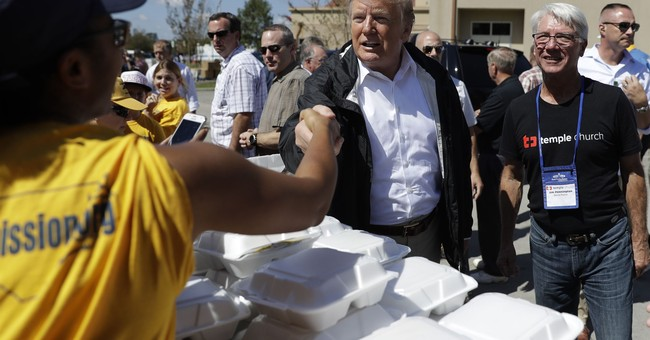 Trump Visits Hurricane-Damaged North Carolina
