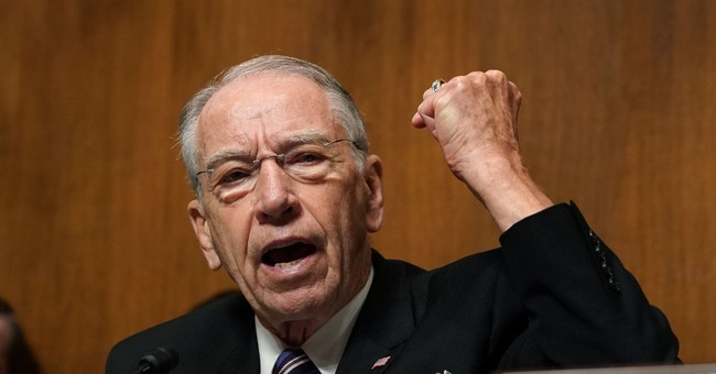 Grassley Pens Letter to DOJ, FBI Asking for Criminal Investigation Into False Allegations Against Kavanaugh