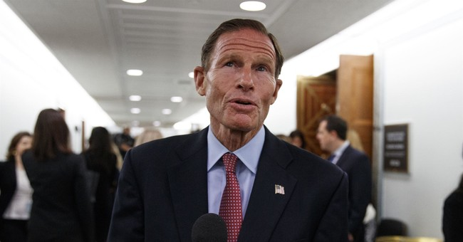 Dem Sen. Blumenthal Claims President Trump's Rhetoric Was a 'Factor' in Mosque Shootings