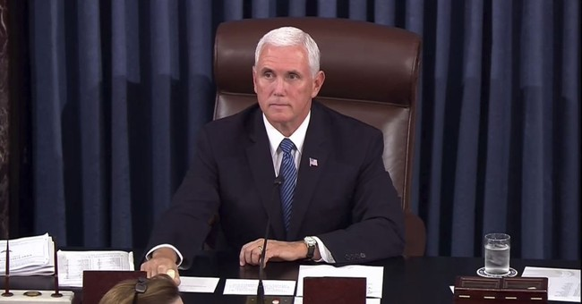 'Let's Do This': After Owning Liberals Today, Mike Pence Takes A Victory Lap In Front Of Kavanaugh Protesters