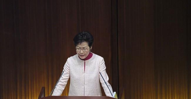 Hong Kong Leader Formally Withdraws Extradition Bill