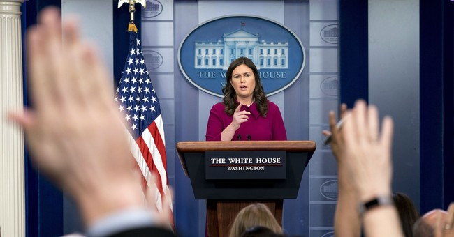 Huckabee Sanders at Press Briefing: National Security Leaks? Look Around the Room.