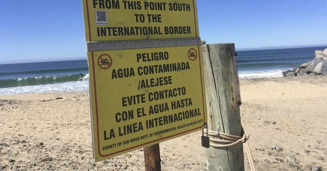 Dead Body, Sewage From Mexico Flow Into California