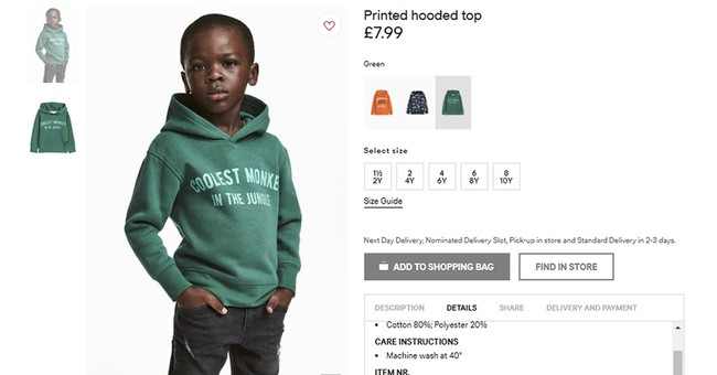 Socialists Ransack Store Over Racist H&M Hoodie