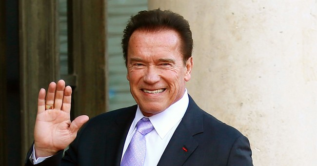 Arnold Schwarzenegger Touts the Coronavirus Curfew - While Baby Talking to His Donkey