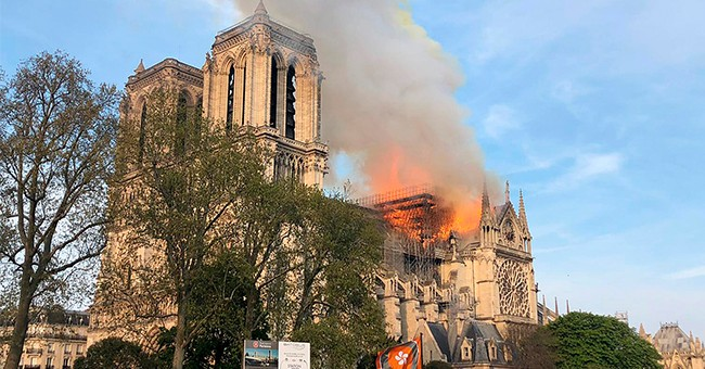 Paris's Notre Dame Cathedral Is On Fire