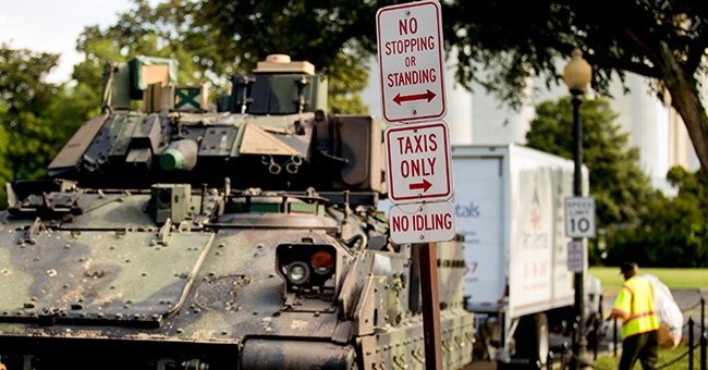 Army to DC Residents: You May See Tanks on the Street Tonight
