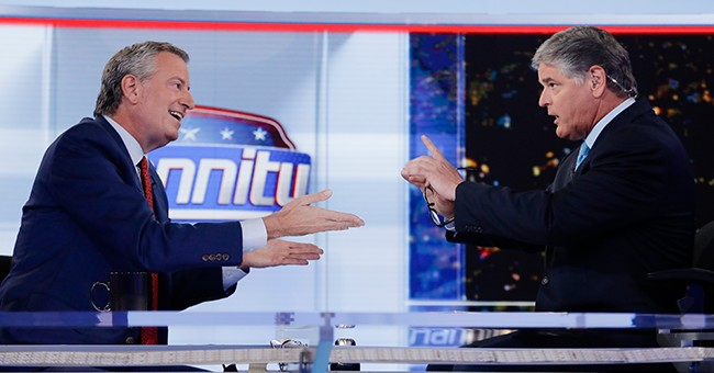 Bill de Blasio Accuses Hannity, Fox News of Hosting 'Charade' of an Interview