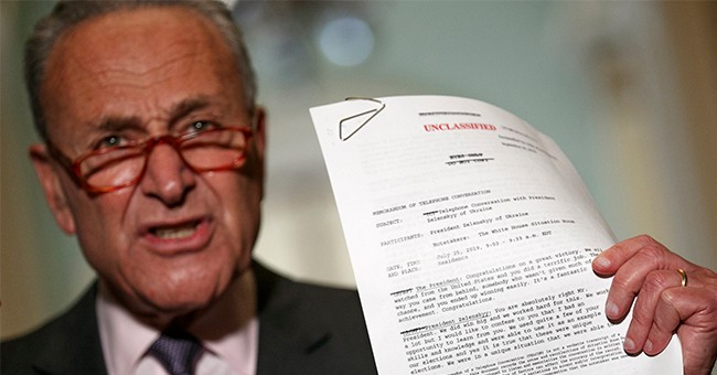 These Are Schumer's Latest Impeachment Demands