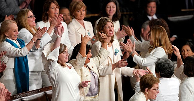 Wow: Trump Got Democratic Women to Give a Standing Ovation AND Break Into USA Chant