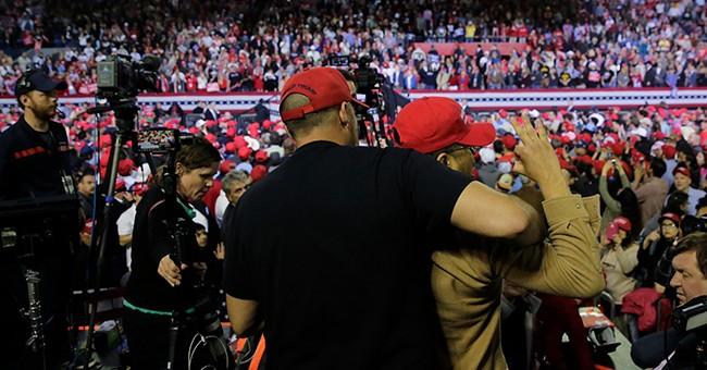 Man Attacks BBC Cameraman at Trump's El Paso Rally