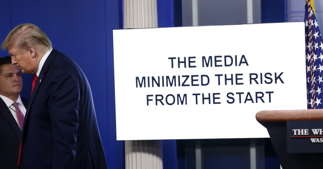 """WATCH: Trump Dunks on Media By """"Going to the Video"""" During Daily WH Press Briefing"""