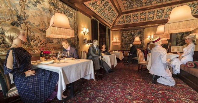 Famed Virginia Restaurant Fills Half Empty Dining Room with 'Whimsical' Mannequins
