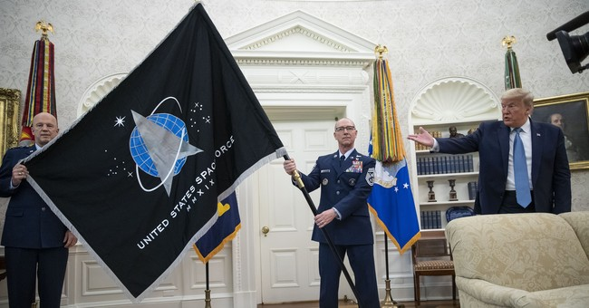 WATCH: White House Unveils New Space Force Flag