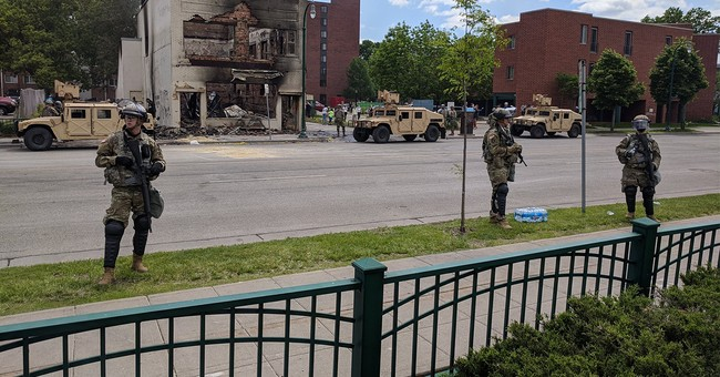 They've Arrived: National Guard, Police Deployed Just in Time to Protect the Smoldering Ruins of Minneapolis