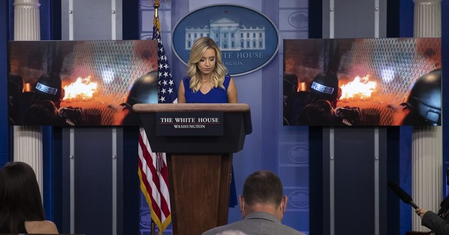 Networks Cut Away When WH Press Secretary Plays Footage of 'Peaceful' Protests