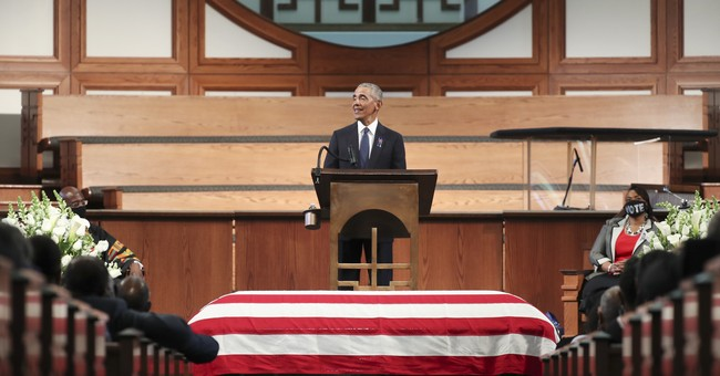 President Obama Gets Political at John Lewis's Funeral