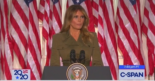 Melania Sends Message to the Media During Sobering RNC Speech