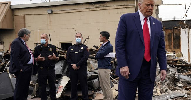 President Trump Visits Kenosha in the Wake of 'Anti-Police and Anti-American' Riots as Dems Ignore Devastation