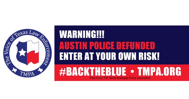 Police Group's Billboard Warns Against Entering Austin