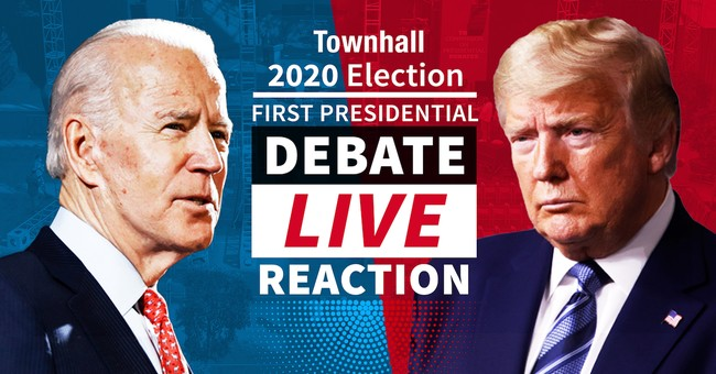 WATCH: Townhall's LIVE Reaction to the First Presidential Debate