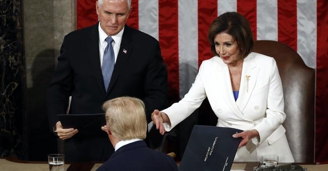 WATCH: Trump Does Not Shake Nancy Pelosi's Hand at the SOTU