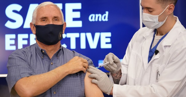 Vice President Pence Reacts After Getting Vaccinated in Televised Event