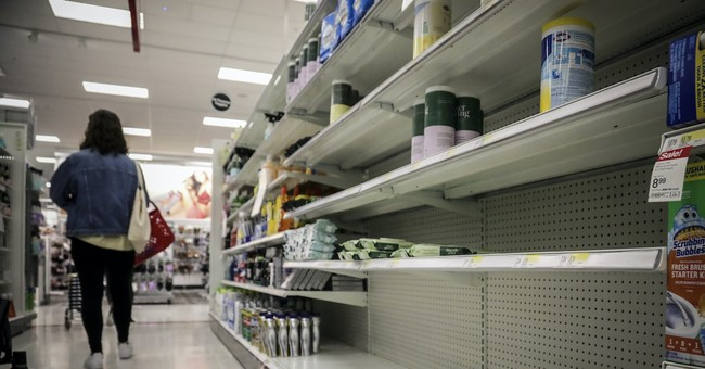 The Left Is Pushing Empty Shelves Caused by Wuhan Virus Panic Buying as an Excuse for Socialism