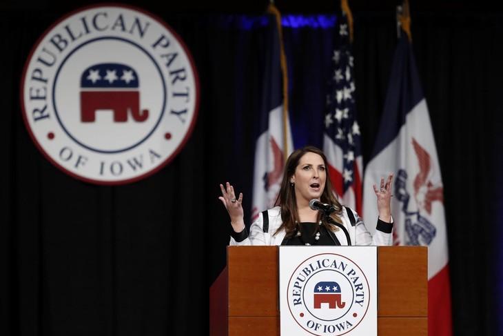 U.S. election: Trump spokeswoman cut off in one minute