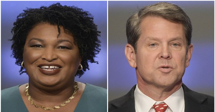 Stacey Abrams vs. Brian Kemp (AP/Reuters Feed Library)