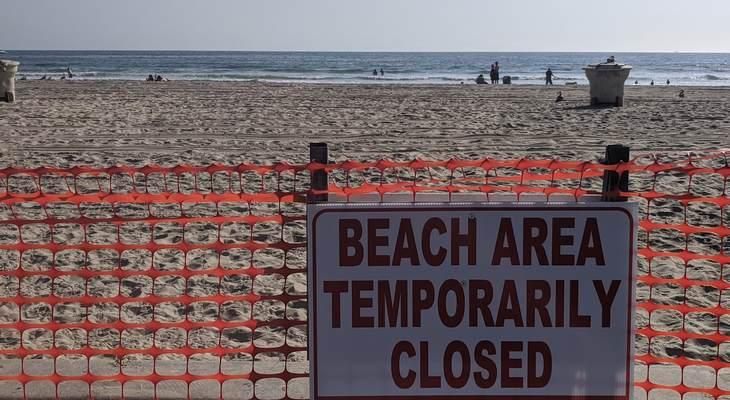 California, Beach Lockdown, Protests