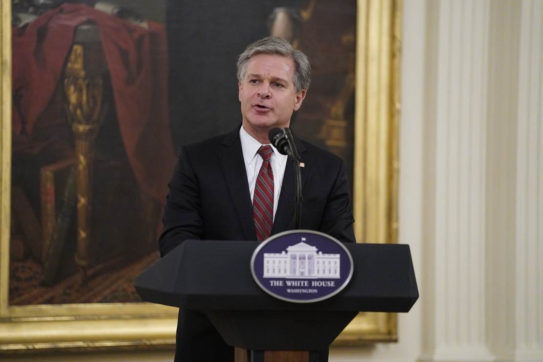 Christopher Wray Holds Press Conference to Project Confidence in Corrupt FBI No One Trusts