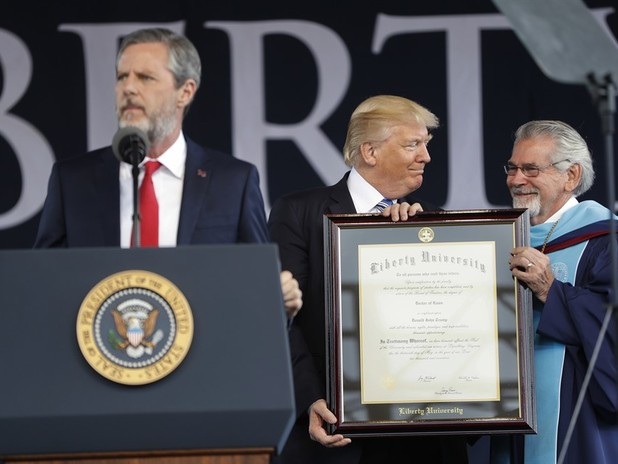 Jerry Falwell Jr.: 'You don't choose a president based on how good they are'