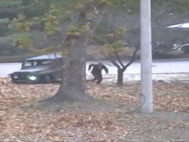 Dramatic Footage Shows Moment of North Korean Soldier's Defection