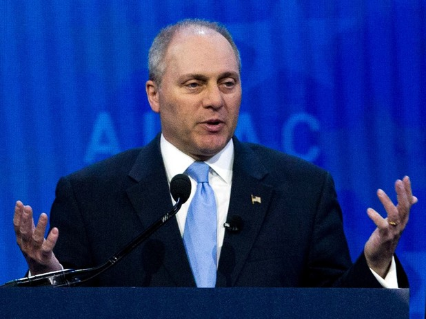 Scalise Gets Ready For the Game Tonight