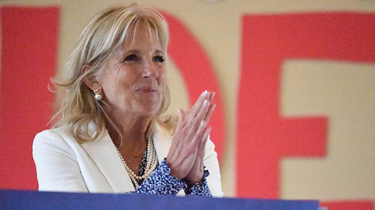 Jill Biden Helps the Needy For the Holiday...But Not in America