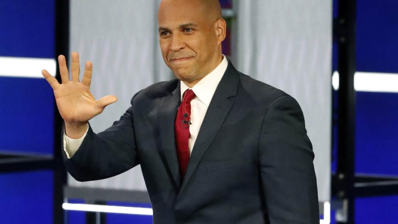 Cory Booker 'Celebrates Biden'
