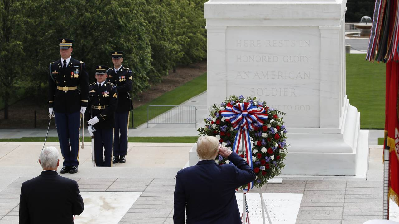 WATCH: Trump Honors Fallen Soldiers at Arlington National Cemetery
