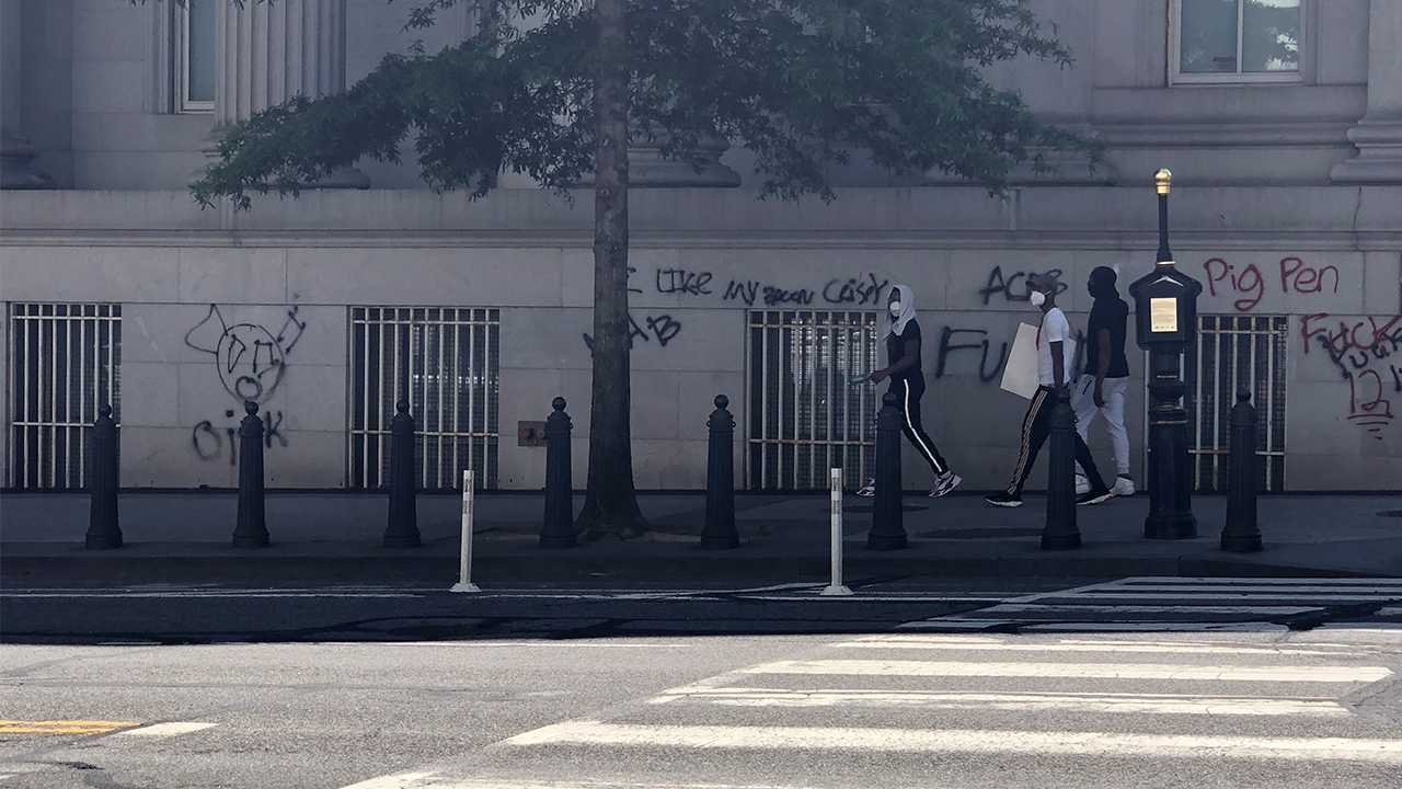 Three Young Women Deemed Racist for Cleaning Up Graffiti in DC