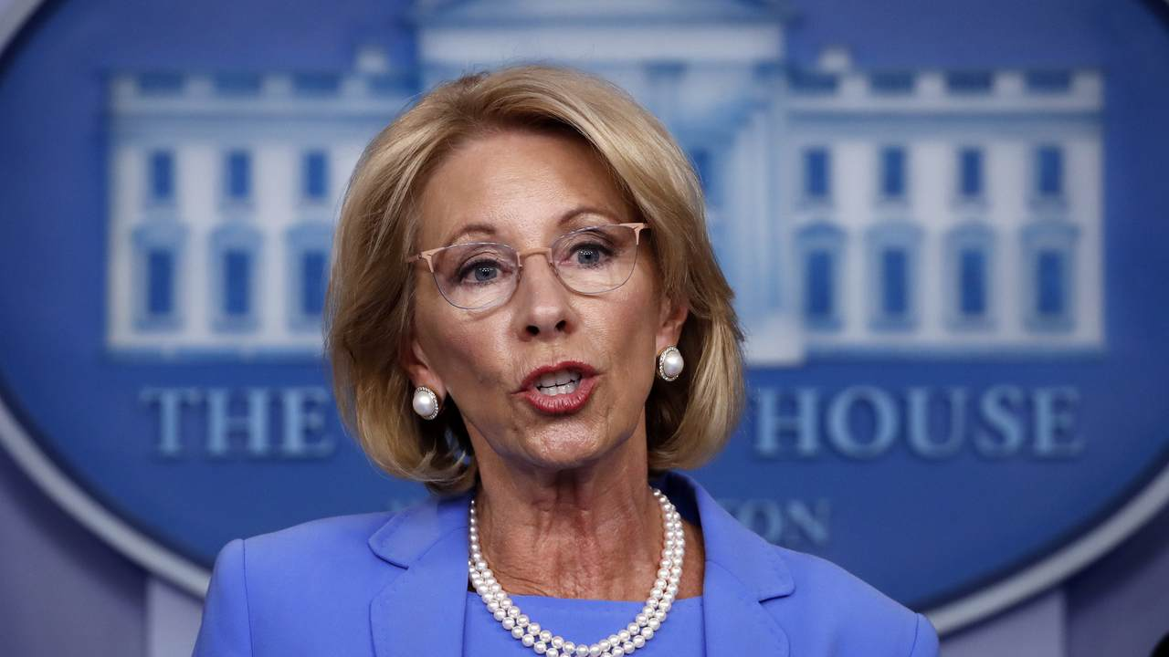 For Teachers' Unions, Sec. DeVos and School Choice Can't Leave Soon Enough