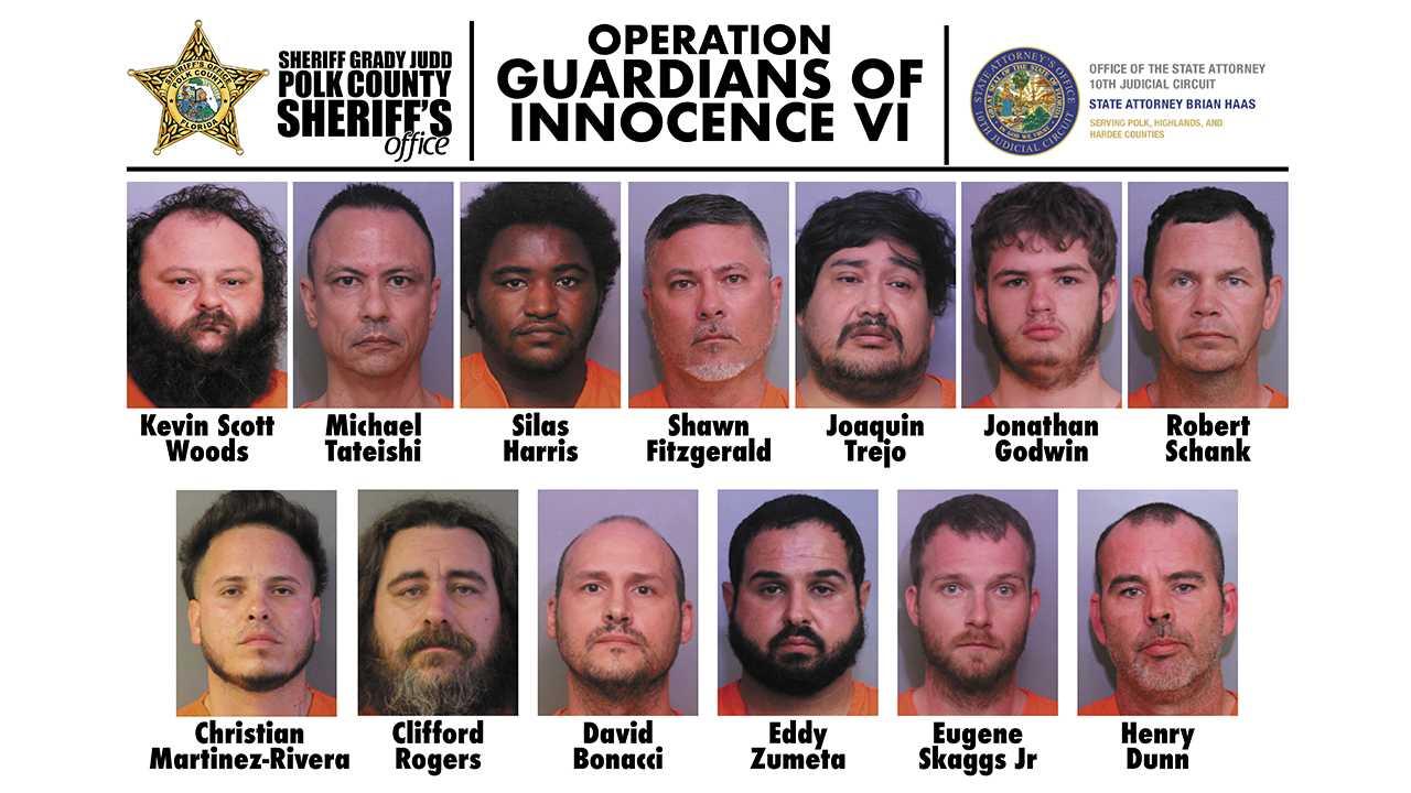 Over a Dozen Arrests Following Child Pornography Investigation in Florida