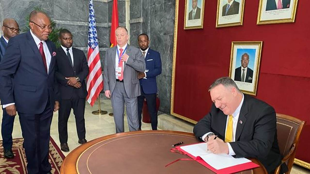 Photo Journal: Secretary of State Mike Pompeo Fights Corruption in Angola