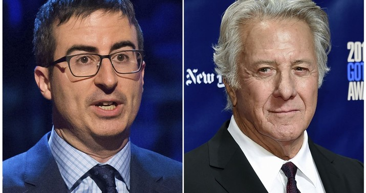 John Oliver Catches Dustin Hoffman Off Guard, Grills Him On Groping Allegations
