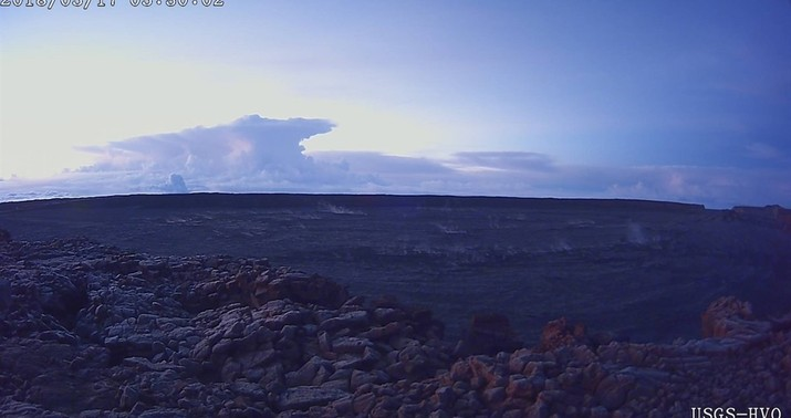 Explosive eruption at Hawaii volcano