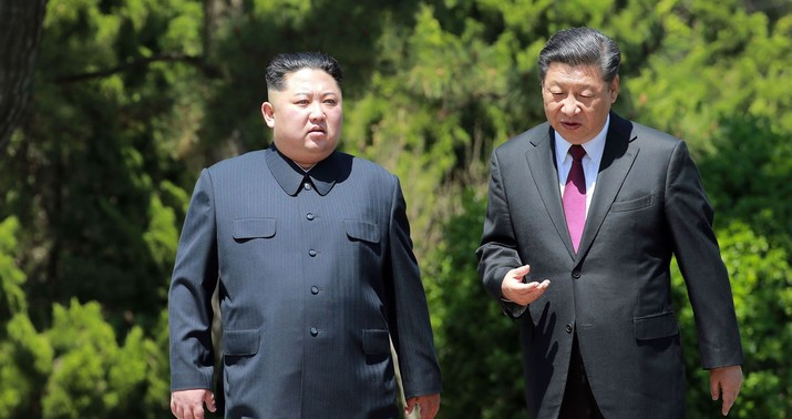 Kim Jong-un talks denuclearisation on visit to Beijing